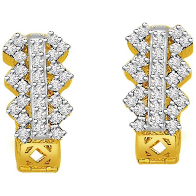 0.75ct Diamond Gold Earrings -Balis & Hoops