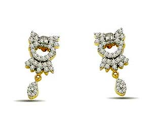 0.80 cts Diamond Earrings -Designer Earrings