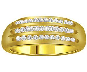 0.80 cts Diamond B In 18K Gold
