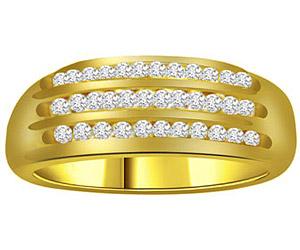0.80 cts Diamond B In 18K Gold