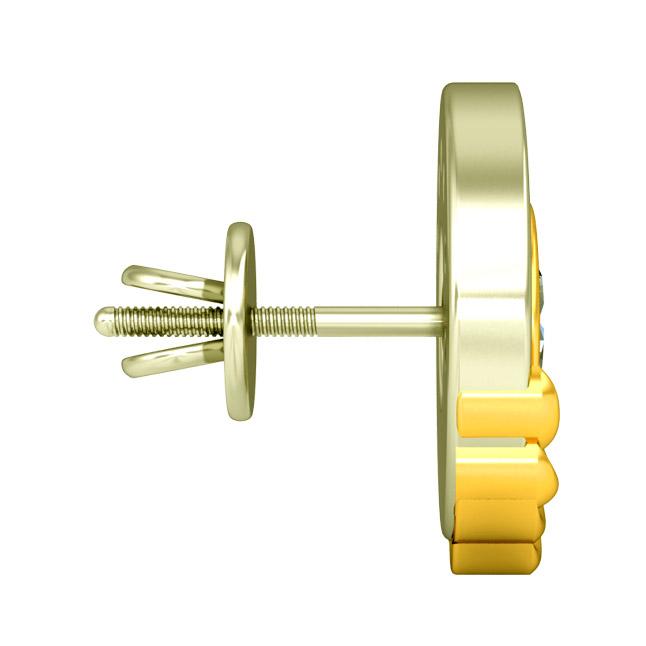 0.80 cts Diamond Kudajodi Earrings -Kudajodi