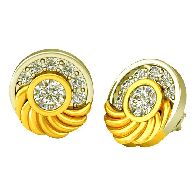 0.80 cts Diamond Kudajodi Earrings -Kudajodi