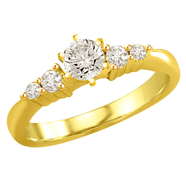 0.86TCW N/SI1 18k Gold Certified Diamond Bridal rings -Rs.100001 -Rs.150000