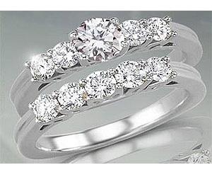 0.86TCW O/VS1 Cert Diamond Engagement Wedding rings Set -Rs.40000 -Rs.100000