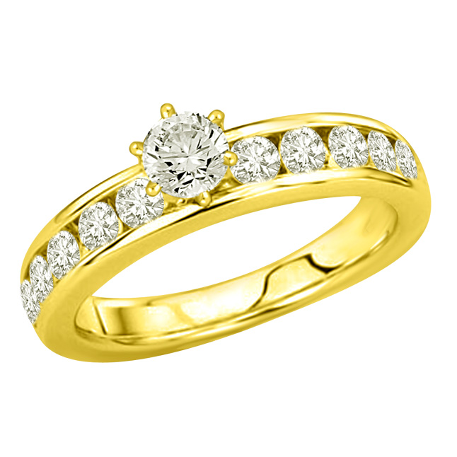 0.90TCW E/SI2 GIA Solitaire Diamond Engagement rings -Rs.100001 -Rs.150000
