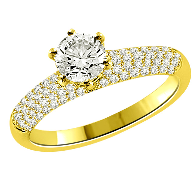 0.90TCW H/SI1 GIA Certified Sol Diamond Engagement rings -Rs.100001 -Rs.150000