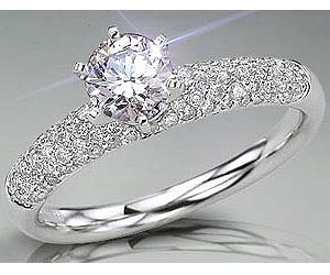 0.90TCW H /SI1 GIA Certified Sol Diamond Engagement rings -Rs.100001 -Rs.150000