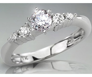 0.96TCW J/VS1 14k Gold Certified Diamond Bridal rings -Rs.200001 -Rs.300000