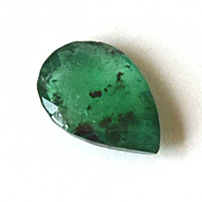 0.38cts Real Natural AAA Quality Faceted Pear Shape Green Emerald Gemstone for Astrological Purpose (0.38cts Emerald)