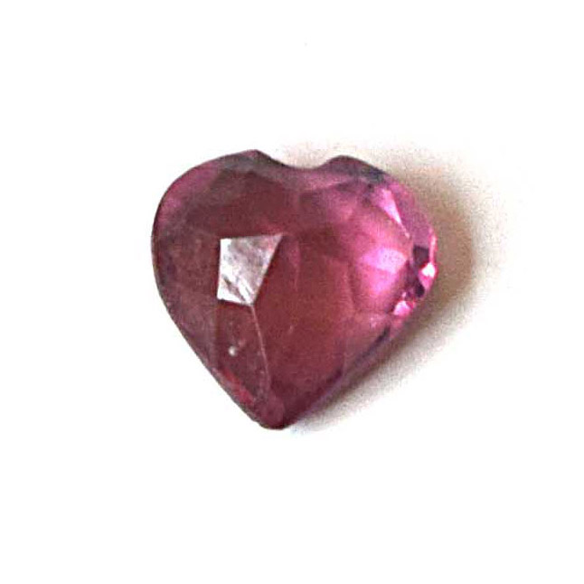 0.51cts Real Natural AAA Faceted Transparent Heart Shape Dark Pink Ruby Gemstone for Astrological Purpose (0.51cts Heart Ruby)