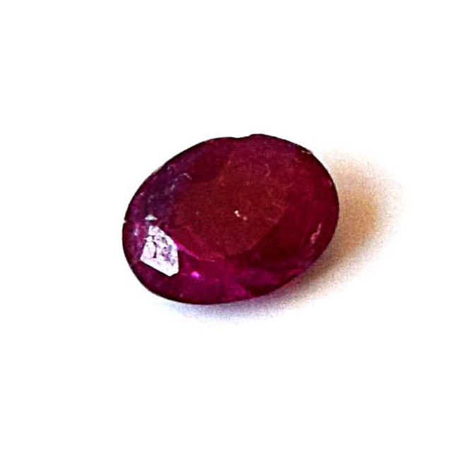 1/0.62cts Real Natural Oval Faceted Red Ruby Gemstone for Astrological Purpose (0.62cts Oval Ruby)