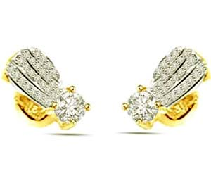 1.00 cts Diamond Earrings -Designer Earrings