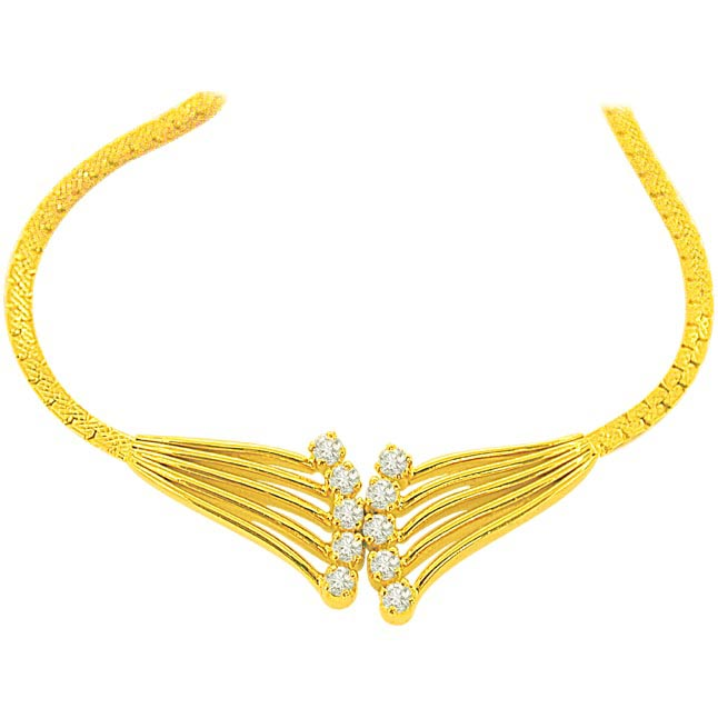 1.00 cts Diamond Necklace DN2100 -Solitaire Mangalsutra