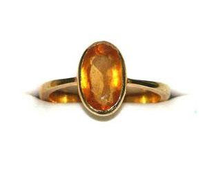 1.00ct Hessonite/ Gomed Stone rings in 18k Gold -Navratna+Gemstone