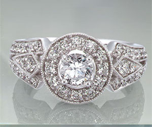1.00TCW E /VVS1 GIA Certified Diamond Engagement rings -Rs.300001 -Rs.400000