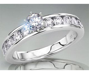 1.00TCW F /I1 GIA Cert Solitaire Diamond Engagement rings -Rs.100001 -Rs.150000