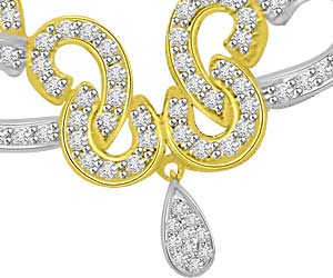 1.01ct Diamond Butterfly Pendants Necklace For Her