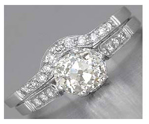1.07TCW F/VS1 Sol Diamond Wedding Engagement rings Set -Rs.200001 -Rs.300000
