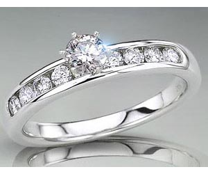 1.12TCW E/ SI2 Solitaire Diamond rings in Closed Setting -Rs.300001 -Rs.400000