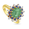 1.14 cts Diamond Emerald & Sapphire rings -Gemstone & Diamond