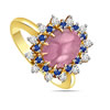 1.24 cts Diamond Ruby & Sapphire rings -Gemstone & Diamond