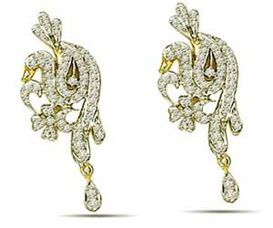 1.25 cts Diamond Earrings -Designer Earrings