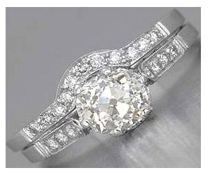 1.27TCW M/SI2 Sol Diamond Wedding Engagement rings Set -Rs.150001 -Rs.200000