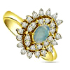 1.30 cts Diamond & Opal Stone rings -Gemstone & Diamond