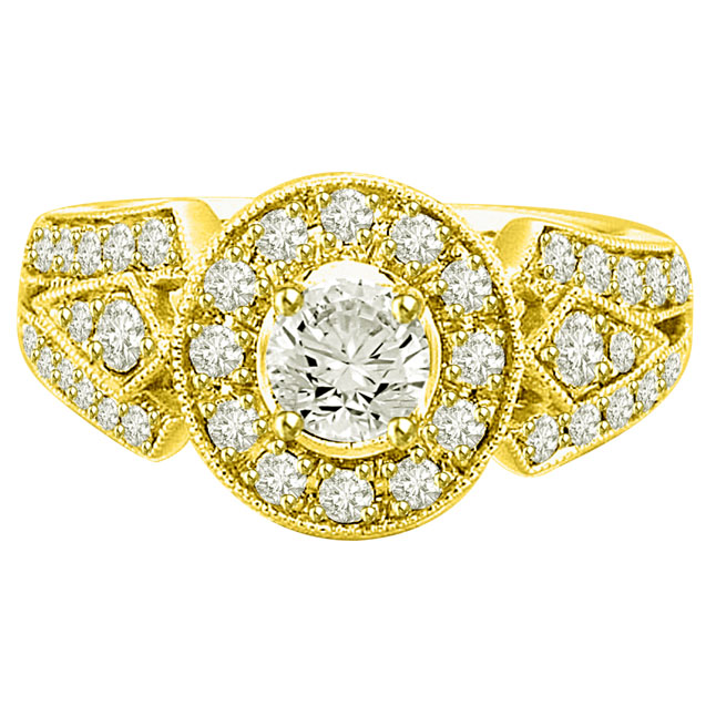 1.40TCW E/VVS1 GIA Certified Diamond Engagement rings -Rs.600001 & Above