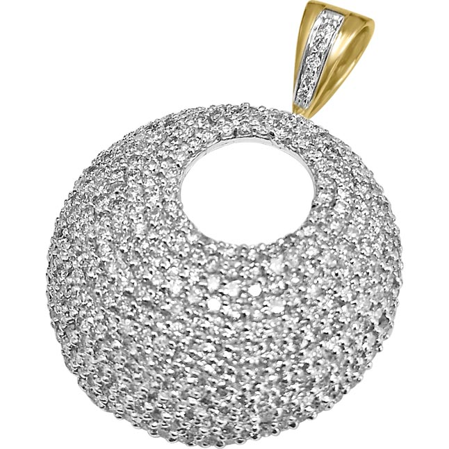 1.50 cts Fancy Diamond Two Tone Pendants -Designer Pendants