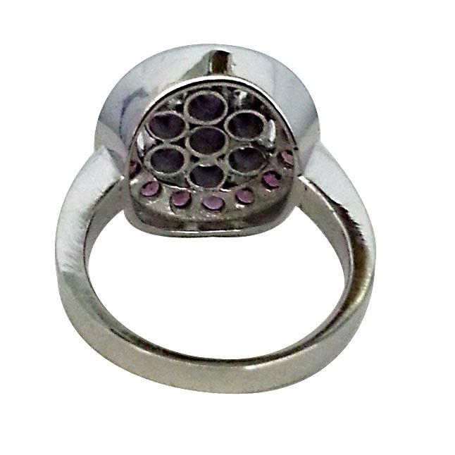 1.52 ct Amethyst & Rhodolite Colourful Flower rings