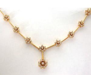 1.76 Cts Flower Shape Diamond Necklace -Diamond Necklace