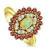 1.84 cts Diamond Ruby & Opal Stone rings -Gemstone & Diamond