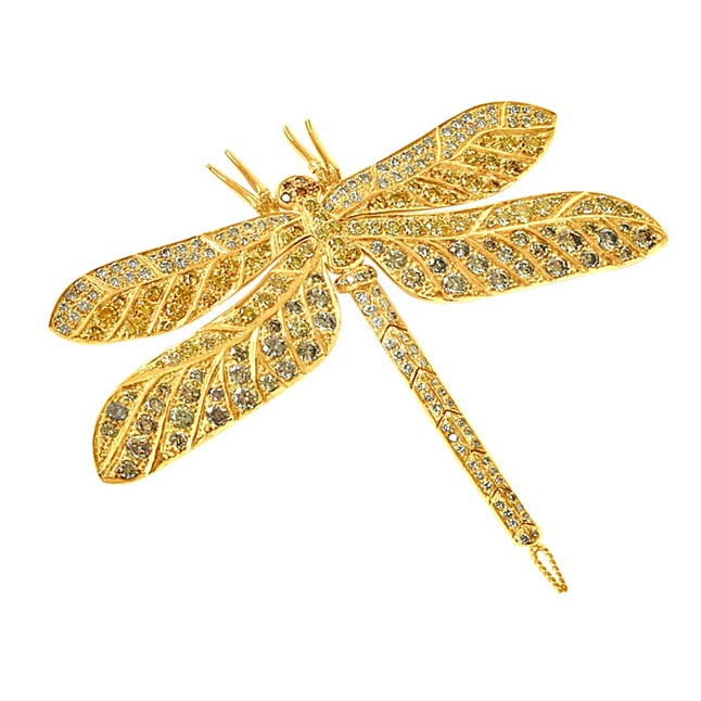 11.56ct White & Fancy colour Real Diamond Butterfly -Diamond Brooches