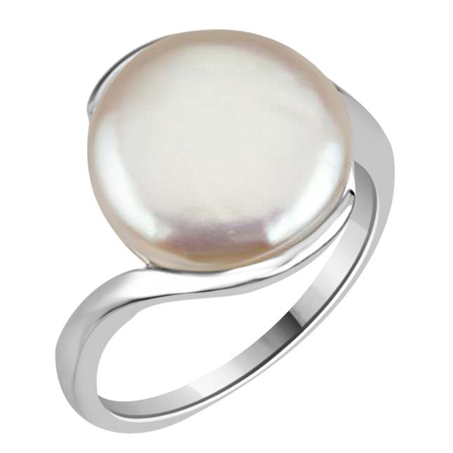 12.67cts Real Big Pearl & 925 Sterling Silver rings for Astrological Power for All