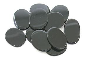 142.91 ct Oval Shaped Loose Black Onyx -Gemstone Plates