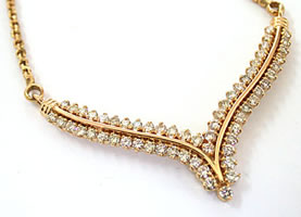 2.10 ct Diamond Necklace -Diamond Necklace