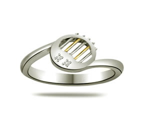 2 Diamond Two -Tone White Gold rings