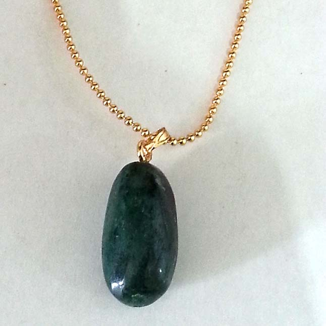 25.70 cts Real Natural Green Big Emerald Pendants with Gold Plated Chain
