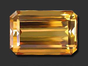31.12 ct Rectangular Shaped Golden Loose Topaz (LGS12)