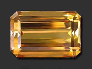 31.12 ct Rectangular Shaped Golden Loose Topaz -Golden Topaz
