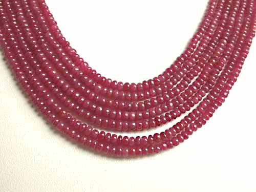 368 cts 7 Line REAL Ruby Beads Necklace