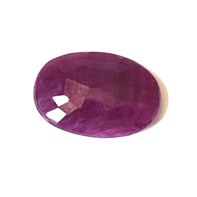 3.84cts Big Oval Real Natural Faceted A Grade Ruby Gemstone for Astrological Purpose (3.84cts Oval Ruby)