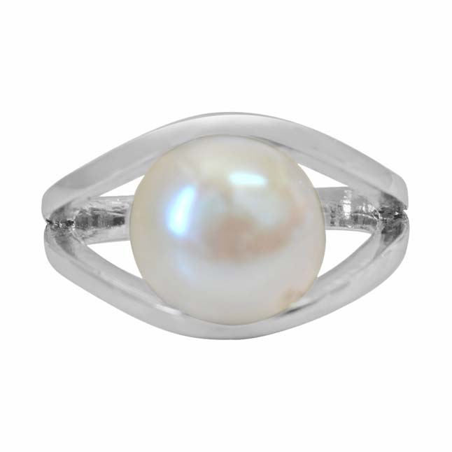 5.00 cts Big Real Pearl & 925 Sterling Silver rings for Astrological Power for All