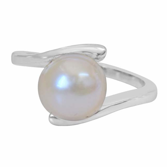5.00 cts Real Big Pearl & 925 Sterling Silver rings for Astrological Power for All