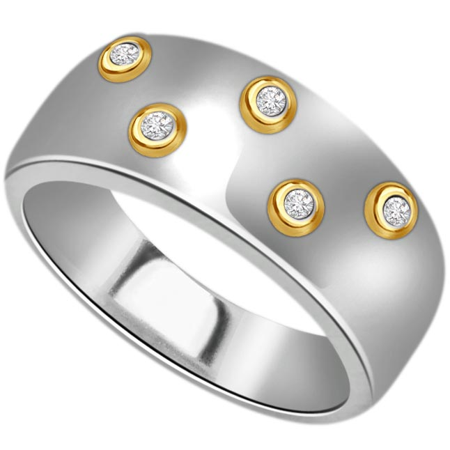 5 Star Goldy Diamond 0.15 ct Gold rings