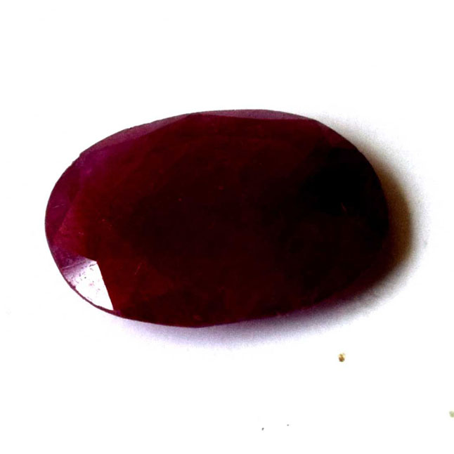 1/5.55cts Big Oval Real Natural A Grade Faceted Ruby Gemstone for Astrological Purpose (5.55cts Oval Ruby)