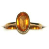 6.25ct Hessonite/ Gomed Stone rings in 18k Gold -Navratna+Gemstone