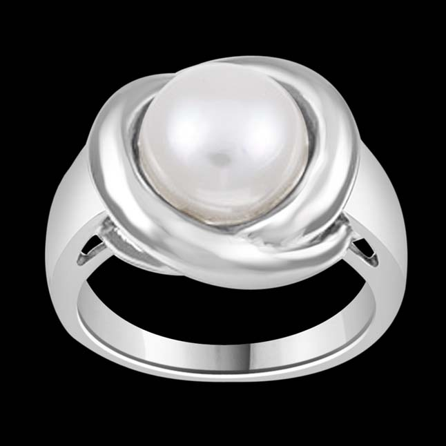 6.51cts Real Big Pearl 925 Sterling Silver rings for Astrological Power for All