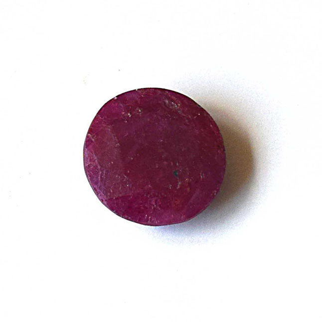 6.95cts Real Natural Round Faceted Red Ruby Gemstone for Astrological Purpose (6.95cts RND Ruby)